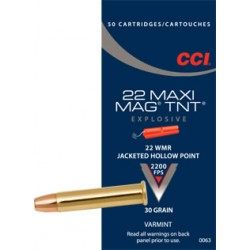 22 WMR MAXI MAG +V 30 GR JHP