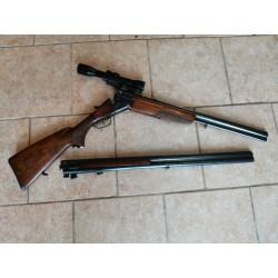 UB CZ 581-04 Sada kozlice, kulobrokové hlavně a puškohledu