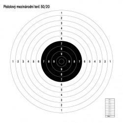 Mezinárodní pistolový terč 50/20 100ks