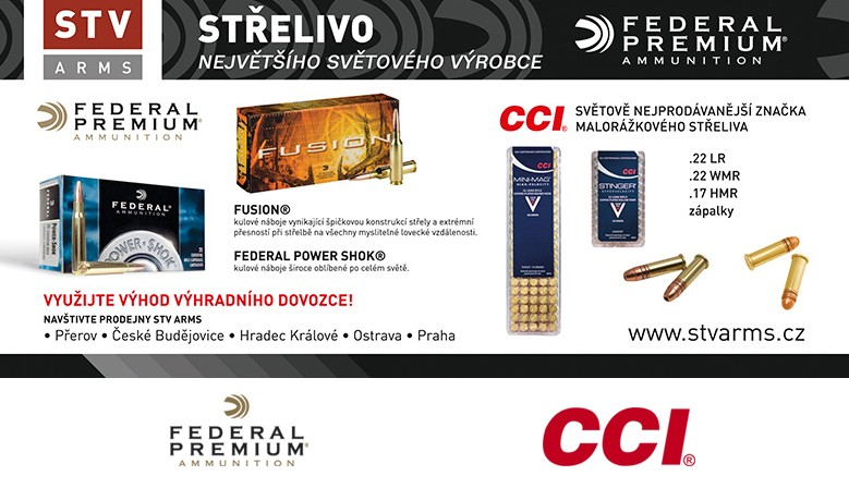 Střelivo Federal a CCI